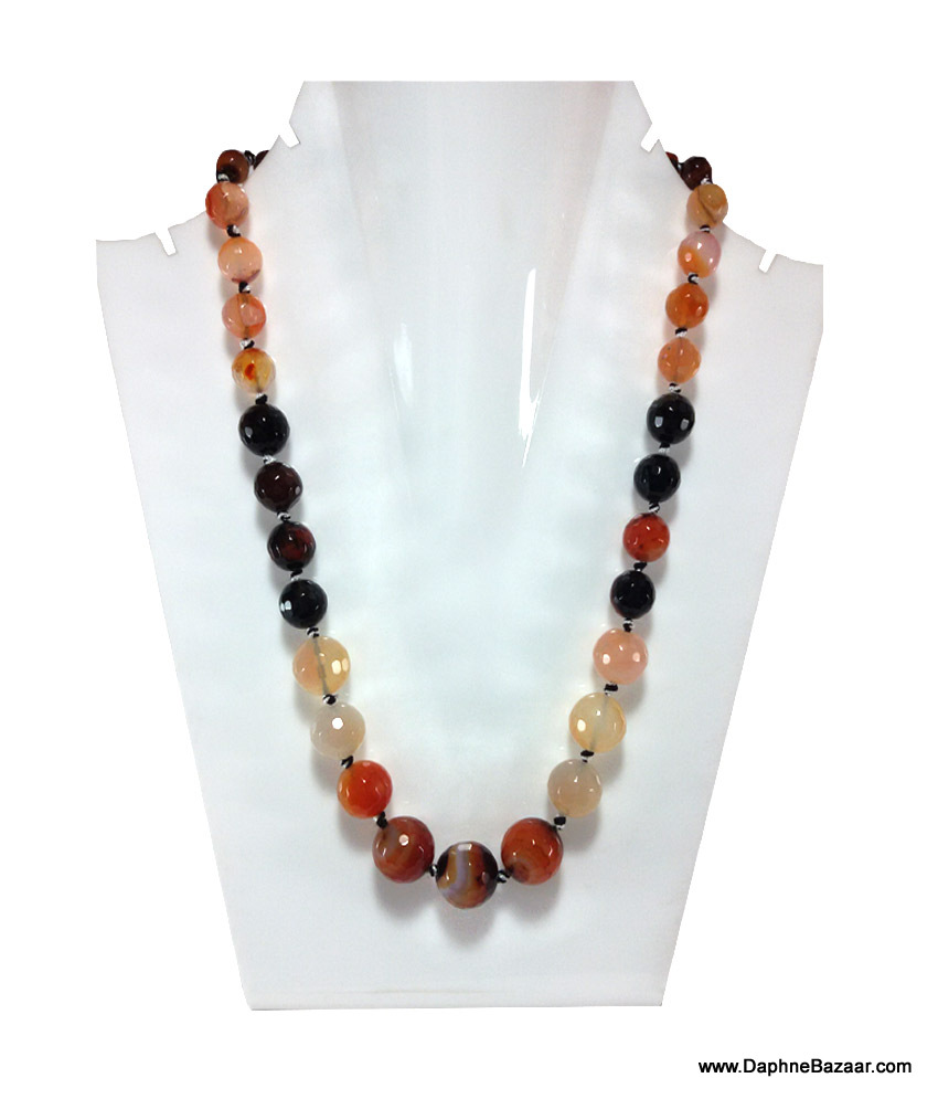 DaphneBazaar Orange Black Mix Multi Color Onyx