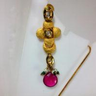 Kundan Earrings with Pink stones