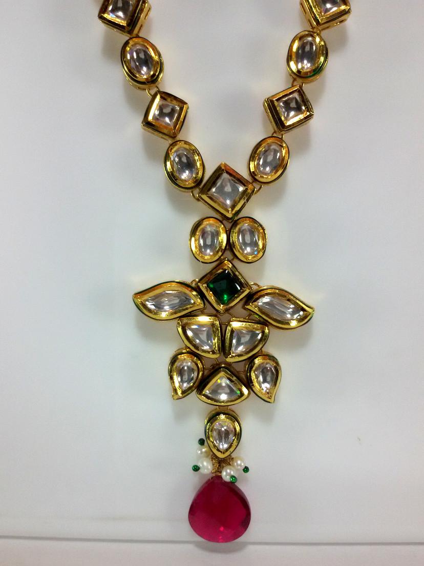 Kundan Necklace closer look