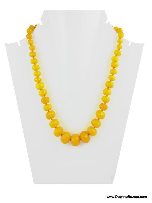 Daphne Bazaar Yellow Oval Onyx