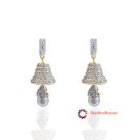 American Diamond Pearl Jhumki