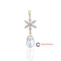 Designer Star Pendant Pearl Droplet