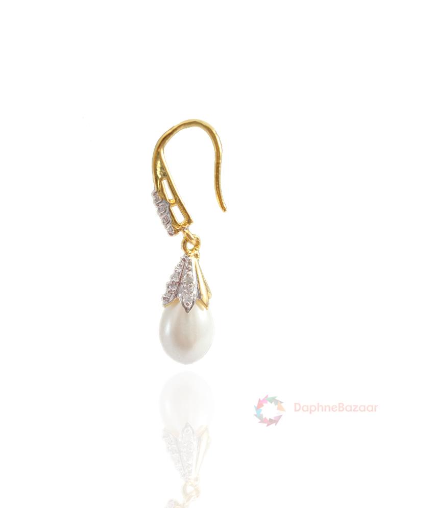 how to make hanging pearl earrings