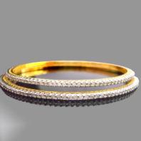 Sleek American Diamond Designer Bangle