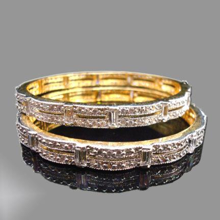 Curvy Antique Diamond Bangle