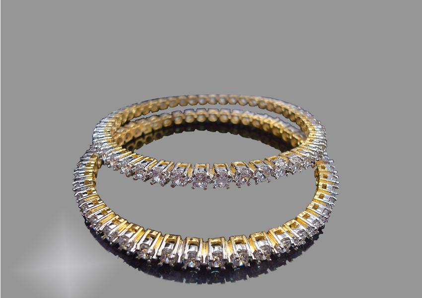 Daphne Bazaar Designer American Diamond Bangle for Women