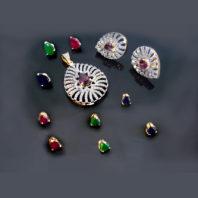 Daphne Wine Changeable Pendant Earrings for Women