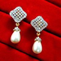 Daphne Diamond White Pearl Droplet for Women