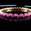 Daphne Sleek Ruby Designer Bangles - Closer Look