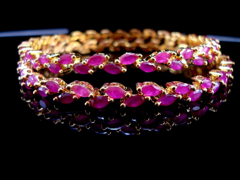 Daphne Sleek Ruby Designer Bangles - Front Look