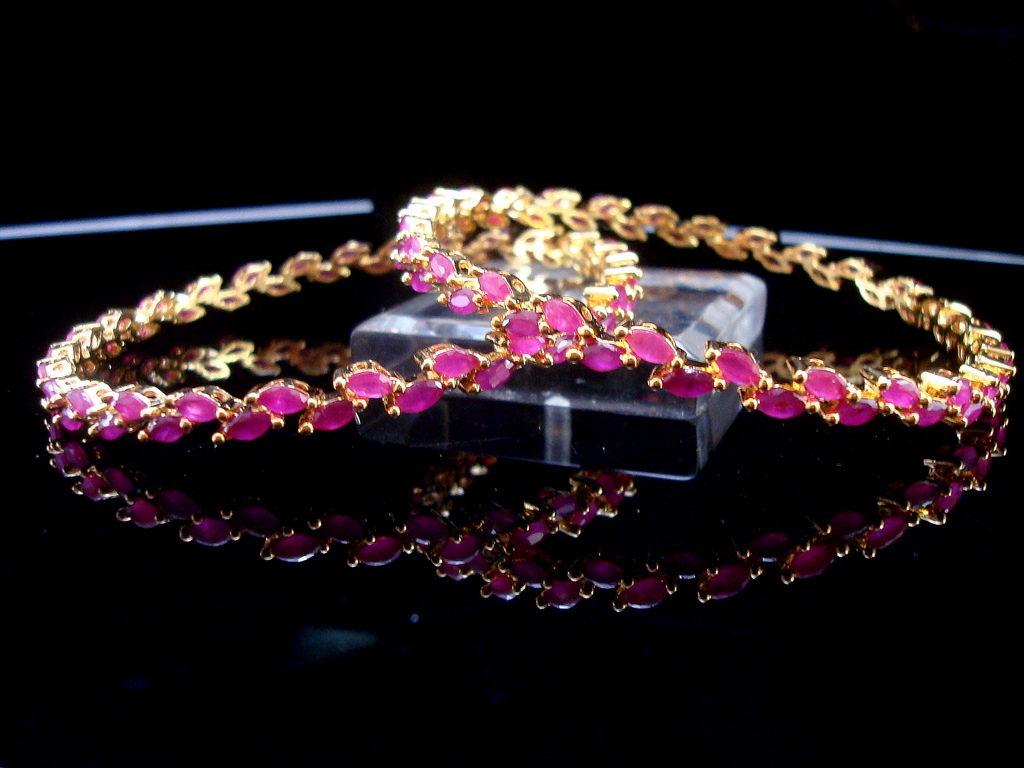 Daphne Sleek Ruby Designer Bangles for Anniversary Gift