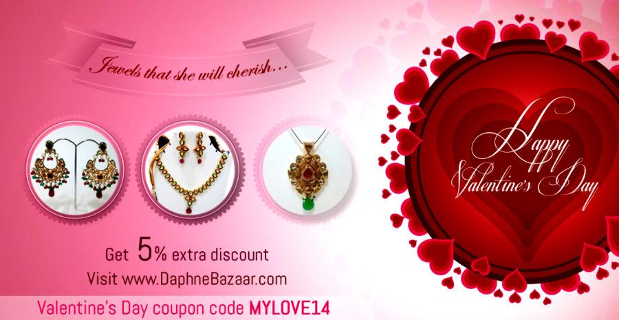 DaphneBazaar Valentine Gift Offer 5 Percent Discount