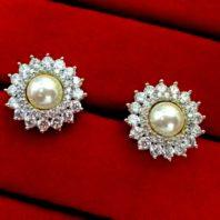Daphne Sparkling Zircon White Pearl Tops