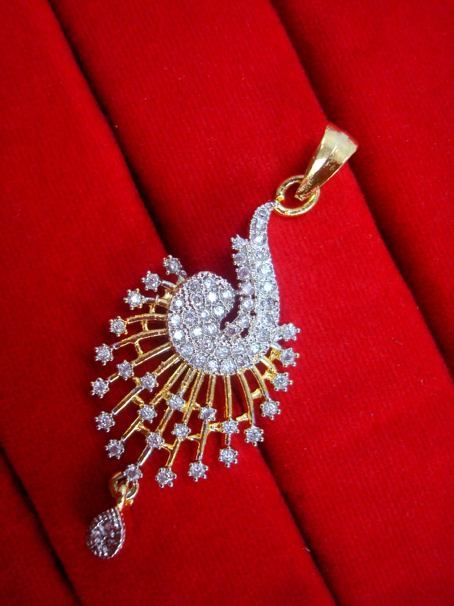 Ad29 daphne designer zircon pendant and earrings for women daphne designer zircon pendant and earrings for women for rakhi gift pendant mozeypictures Gallery