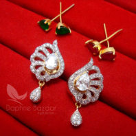 CE25 Daphne Six in One Changeable AD Earrings for Women - ZIRCON