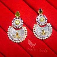 E47 Daphne Cute Zircons Studded Pearl Earrings for women