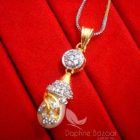 AD90 Daphne Designer Pendant Set With Pearl Drop - PENDANT FORNT