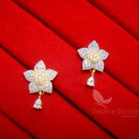 E21, Daphne Zircon Star Earrings for women