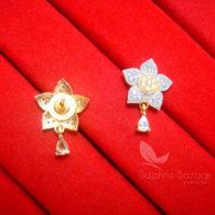 E21, Daphne Zircon Star Earrings for women - BACK