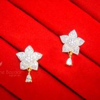 E22, Daphne Zircon Golden Silver Star Earrings for women