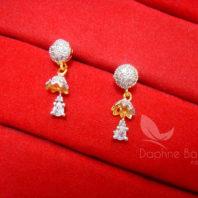 Z11 Daphne Designer Zircon Sleek Pendant Earrings - EARRINGS