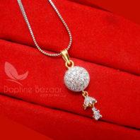 Z11 Daphne Designer Zircon Sleek Pendant Earrings - PENDANT