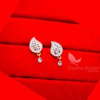 E29, Daphne Designer Curvy Zircon Earrings for Women