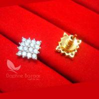 E31, Daphne Premium AD Zircon Small Earrings for Women - BACK VIEW