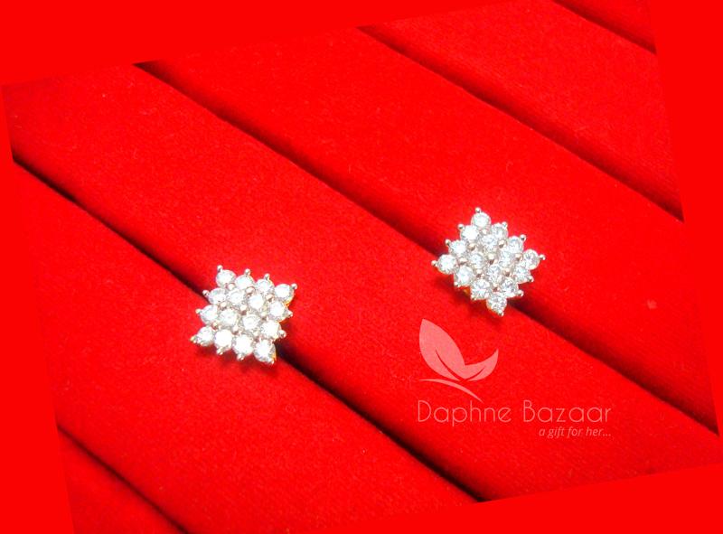 E31, Daphne Premium AD Zircon Small Earrings for Women
