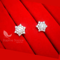 E34, Daphne Premium AD Zircon Small Star Earrings for Women