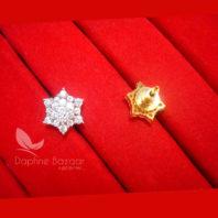 E34, Daphne Premium AD Zircon Small Star Earrings for Women - BACK VIEW