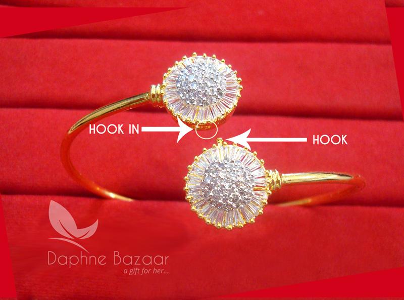 BR45, Daphne Zircon Work Gold plated Bracelet for Women - How to.jpg