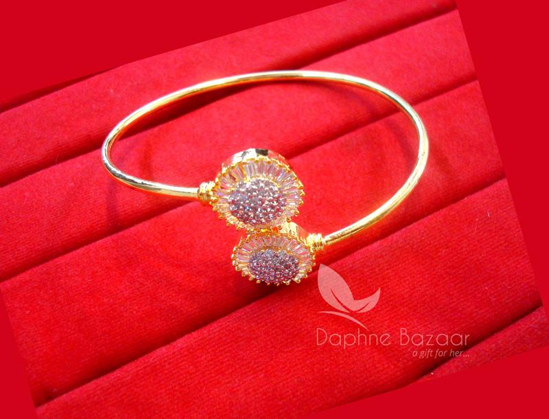 BR45, Daphne Zircon Work Gold plated Bracelet for Women