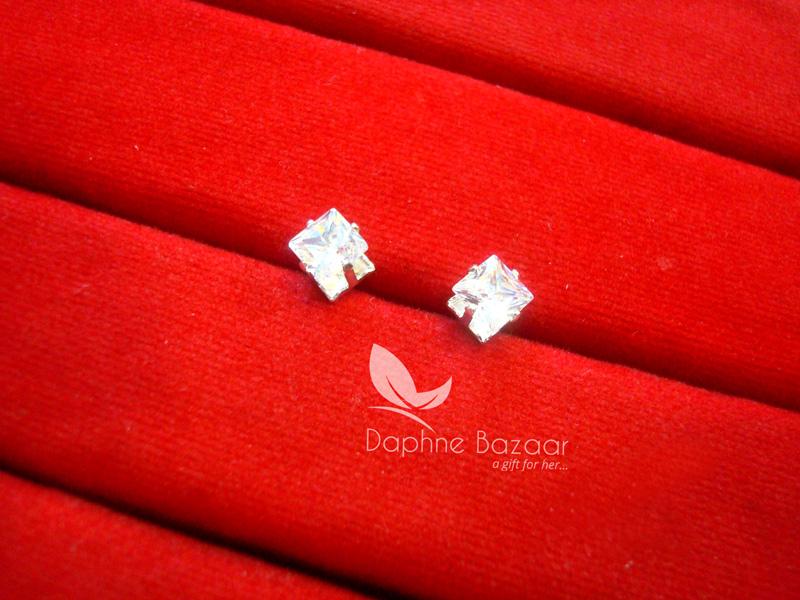 E83S, Daphne Premium Zircon Earrings for Women