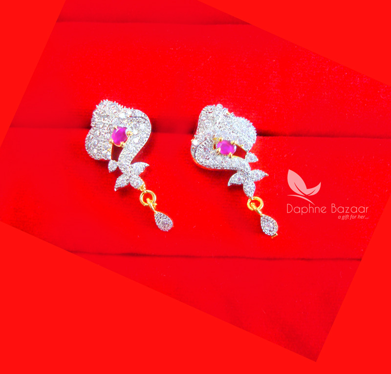 ... Daphne Pink Zircon Earrings Valentine Surprise Gift For Wife