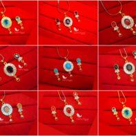 Daphne Oval Zircon Designer Pendant Earrings For Women, New Collection