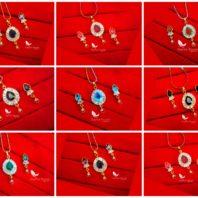 Daphne Zircon Designer Pendant Earrings - Select Color