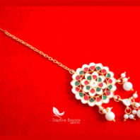 KE61, Daphne Traditional Kundan Carving Maang Tikka, Best Gift For Women