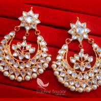 KE30 Bollywood Fashion Gold Plated Kundan Earrings For Women