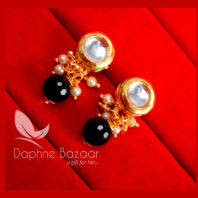 KE63, Daphne Black Circle Shape Kundan Tops For Women, Best Gift For Girlfriend -view2