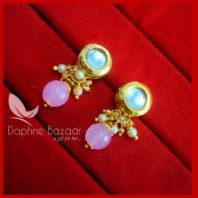 KE64, Daphne Baby Pink Circle Shape Kundan Tops For Women, Best Gift For Girlfriend