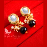 KE71 Daphne Black Oval Shape Kundan Tops Diwali Special For Women