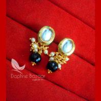 KE71 Daphne Black Oval Shape Kundan Tops Diwali Special For Women-view2