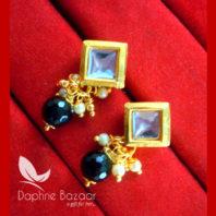 KE75 Daphne Black Square Shape Kundan Tops Diwali Special For Women-view2