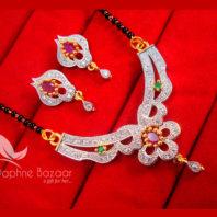 S88, Daphne Zircon Flower Mangalsutra set for Women, Best Diwali Gift For Women
