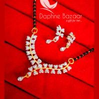 S89, Daphne Zircon Heart Shape Mangalsutra Set Diwali Special For Women