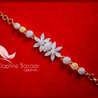 BR57 Daphne Zircon Flora Gold plated Bracelet For Thanksgiving Celebration-2