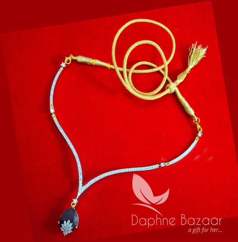 CBU36, Super Saver Four Items Zircon Navy Blue Party Wear Necklace