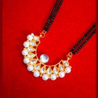 HC33P, Daphne Golden Kundan Pearl Mangalsutra for Women Thanksgiving Celebration-1