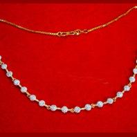 NC30, Daphne Handmade Golden Zircon Necklace for Women Xmas Gift-2